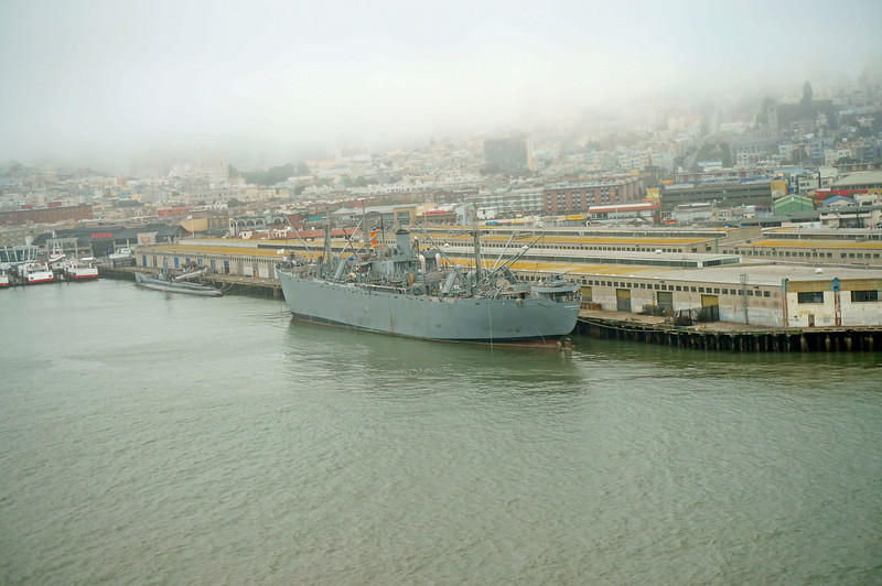 WW2 ships Jeremiah Obrien and Pampanito in San Francisco.