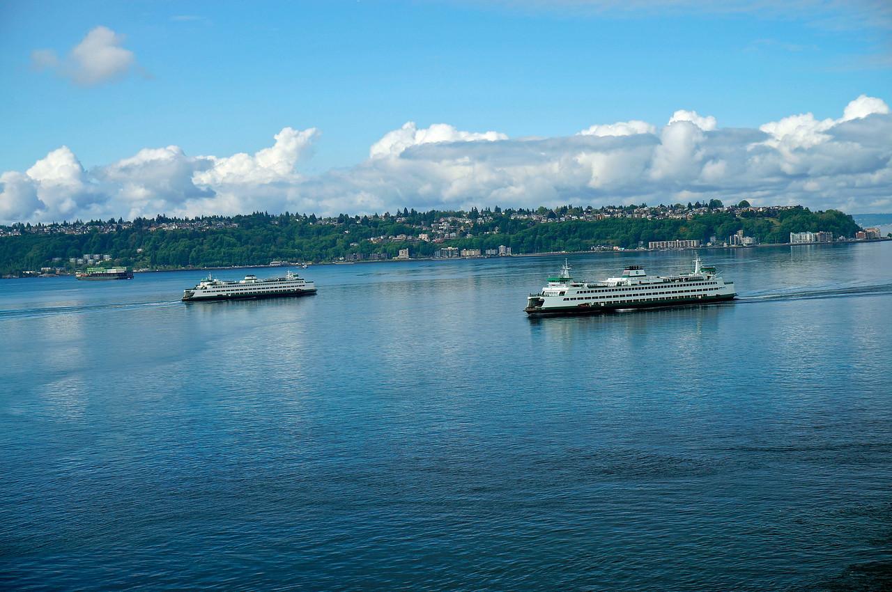 Bainbridge Island ferries in Seattle.
