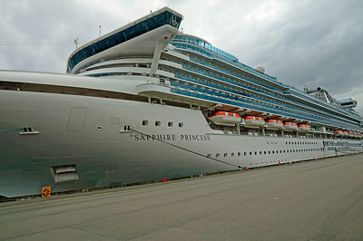 The ship - Sapphire Princess