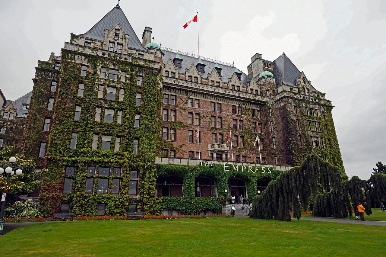 The Empress hotel in Victoria, British Columbia.