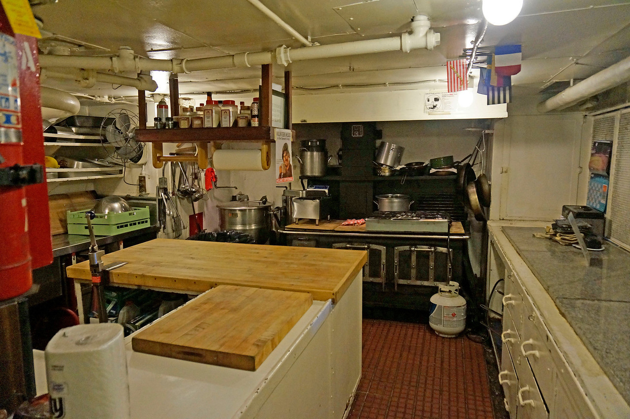 Kitchen on the Jeremiah O'Brien.