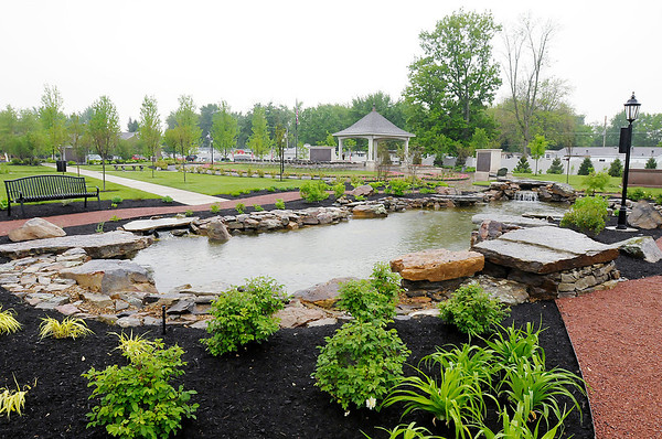 A large water feature is part of the The Gardens at Willowcrest Park which is located behind the Loose Funeral Home on 53rd Street.