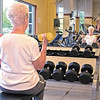 Martha Passwater, who will turn 90 on May 27, keeps active and stays in shape by working out at the White River Club.