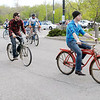Cyclists leave for a ride around Shadyside park to kick off bike month. Other events include a bike rodeo on May 7th and bike to work day on May 17th.