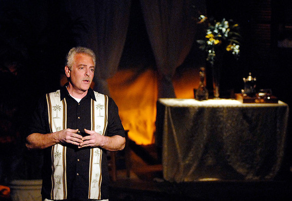 """Frenchman Emile de Becque (Rick Purvis), sings in the Mainstage production of the musical """"South Pacific."""""""