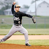 Adam Taylor pitches for the Bulldogs as they faced Wapahani during sectional baseball action at Lapel on Thursday.