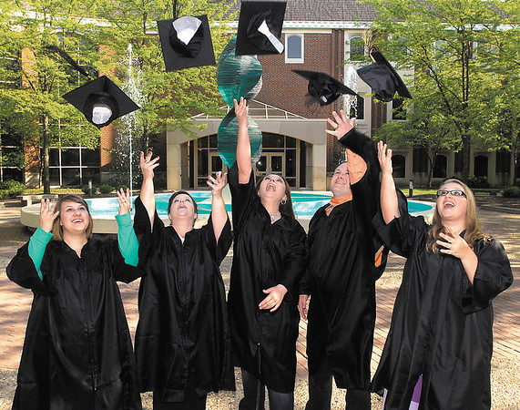 Erin Weston, daughter, Shelly Weston, mother, Kasi Gale, cousin, Justin Price, brother, are all graduating Saturday from Anderson University while daughter Elizabeth Weston, graduating from Daleville High School, is already enrolled at AU for the fall.