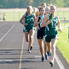 Pendleton Heights' Emma Manchess leads the first leg of the 4x800 meter relay during the Girls Track Sectional at Pendleton Heights on Tuesday. The Arabian team of Manchess, Monica Dudley, Micalah Booher and Anna Dudley finished first.