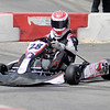 Nick Ricketts leads a feature race during the 19th Annual Sertoma Club Mayor's Cup Grand Prix Go Kart Race on Saturday. Ricketts led most of the race but went out after loosing a wheel in turn one.