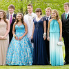 Students pose for a photo before entering the Liberty Christian banquet at the Anderson Country Club on Saturday.