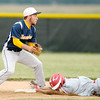 Frankton's Jarrett Simon slides into second beating the tag of Shenandoah's Chandler Grogan during sectional baseball action at Lapel on Thursday.