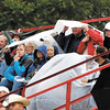 Persistent rain showers dampened the fans at the Little 500 Saturday evening.