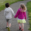 My grandchildren (cousins Boston VanBuskirk and Alayna Schooley) enjoying a walk around Shadyside Park.<br /> <br /> Photographer's Name: Kim VanBuskirk<br /> Photographer's City and State: Anderson, Ind.