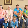 A five-generation picture of Wanda Huff, 90 (second from left), Patty (daughter, far left), Pam (granddaughter, second from right), Amanda (great-granddaughter, far right), Michael (front left, great-great-grandson), Lea-Kaye (front right, great-great-granddaughter), and Joe (baby on lap, great-great-grandson.<br /> <br /> Photographer's Name: Andre Paree-Huff<br /> Photographer's City and State: Fishers, Ind.