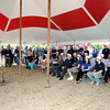 Mayor Kevin Smith speaks during HY-PRO's ground breaking at their new location in Anderson on Thursday.