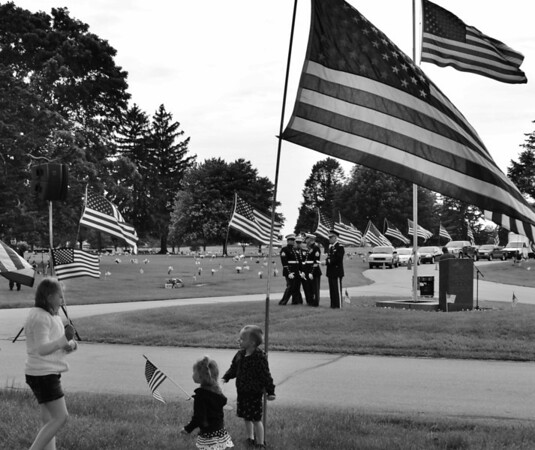 Anderson Memorial Park Memorial Day service.<br /> <br /> Photographer's Name: Colleen Sanders Brown<br /> Photographer's City and State: Anderson, Ind.