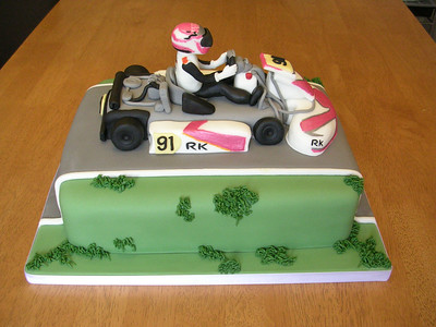 Mya Walker's Birthday Cake she is now 7 yrs. old and loves to race...  Photographer's Name: Beth Walker Photographer's City and State: Anderson, IN