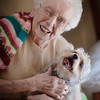 Another photo of Margaret Mowrey with her dog Buddy Boy.  She will be 95 this Sunday.<br /> <br /> Photographer's Name: Terry Lynn  Ayers<br /> Photographer's City and State: Anderson , IN