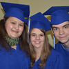 Christina Quinn (left) Melissa Kaufmann and Austin Poor, 2013 graduates from Anderson Christian School .<br /> <br /> Photographer's Name: Linda Shively<br /> Photographer's City and State: Daleville, Ind.