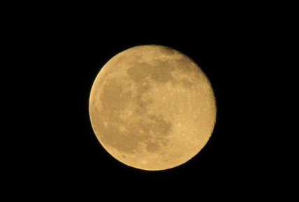 The moon on May 15 -- absolutely beautiful! Taken at 10th Street School.<br /> <br /> Photographer's Name: Bill Griffin<br /> Photographer's City and State: Anderson, Ind.