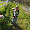 Eli Coxe catches a bass with his new  birthday rod.<br /> <br /> Photographer's Name: J.R. Rosencrans<br /> Photographer's City and State: Alexandria, Ind.
