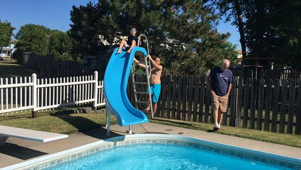 May 2016 new pool slide