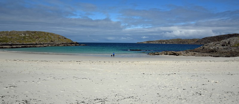 Shonagh and Emmy on Achmelvich Beach on Monday 16th May 2016
