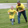 5-4-13<br /> Family Fun day at the fairgrounds<br /> Logan Hook races to beat Gail Brovont during a race at Family Fun Day at the Howard County Fairgrounds.<br /> KT photo | Kelly Lafferty