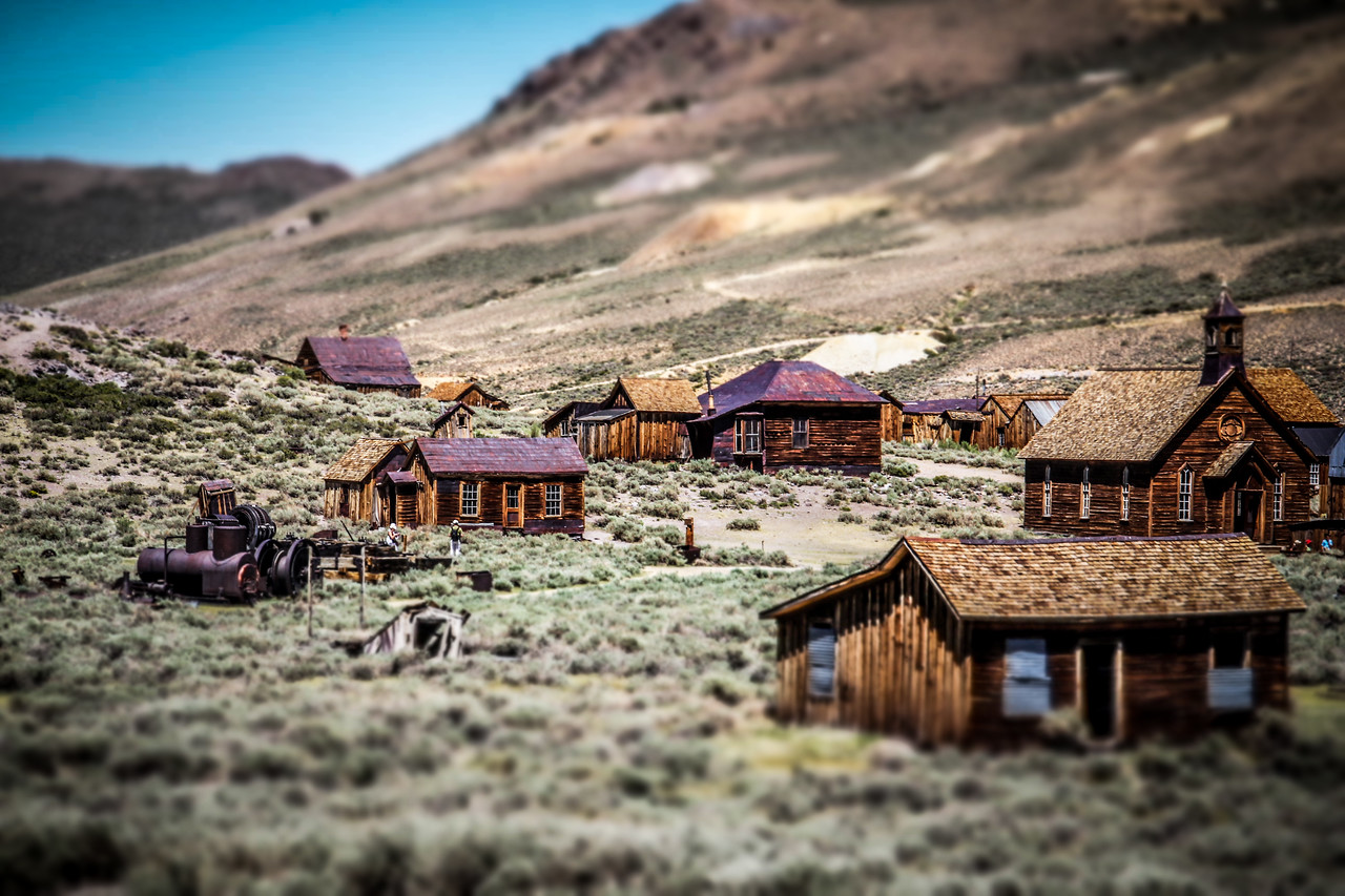 miniature toy town Bodie California 2012