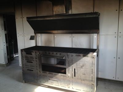 Training facility burn room simulates kitchen fires.