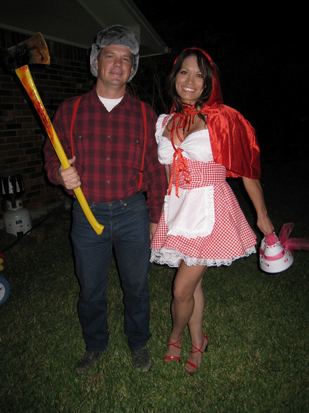 Paul Costas as The Lumberjack and Little Dead Riding Hood.