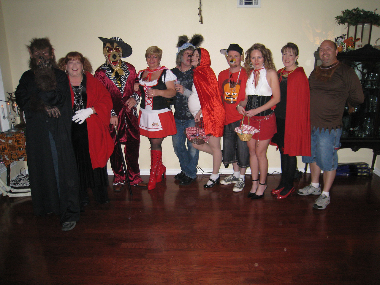 The wolves with their red riding hoods