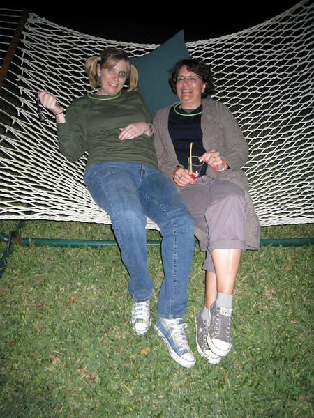 Deena and Katie on the hammock