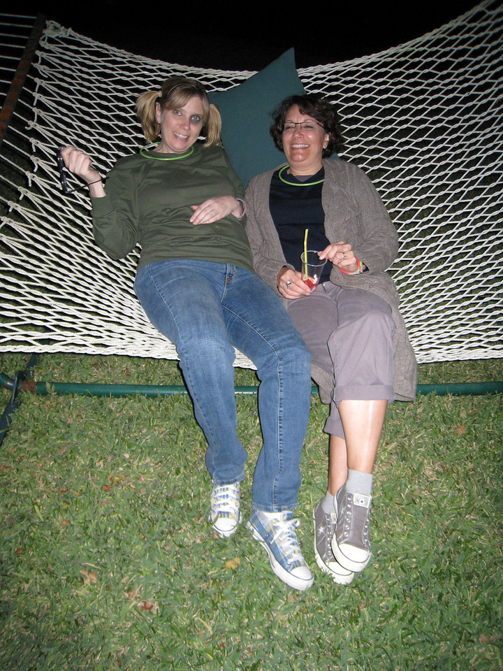 Deena and Katie on the hammock