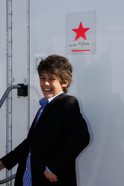 McCrae discovers he has a trailer on the set.  McCrae is the photo double for the kid playing Keithie in the movie.