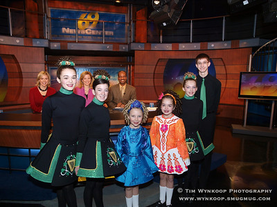 McDade School of Irish Dance performed on WFMZ-TV during the 7:00 a.m. news.