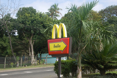 Mcdonalds Entry Sign - Suva, Fiji