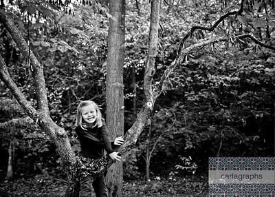 Ava Climbs the Tree bww (1 of 1)