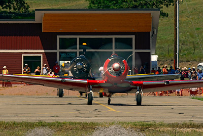 McMann brothers Harvard and T-6