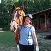 Kate F. and her quarter horse Leo.