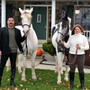 """Manny and Lea B. with their """"old"""" horses, Zeus and Ian."""