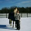 Nancy I. and her horse Buckshot.