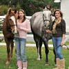 """Sam B. with Chance, her """"old"""" horse, and Monica B. with Rolex."""