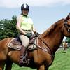 "Lea B. and her ""new"" horse, Killian."