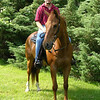 Ron H. and Robbie. Robbie is a 25 year old thoroughbred, never raced but trained for polo.