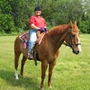 Traci T. and her quarter horse Cowboy.