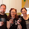 Larry, me and Addie - celebrating the brewing of new mead by drinking some 10-year old blueberry mead!  It's tradition, and you never monkey with tradition!