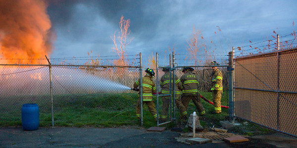 Meadowlands Fire Carlstadt NJ April 11, 2012