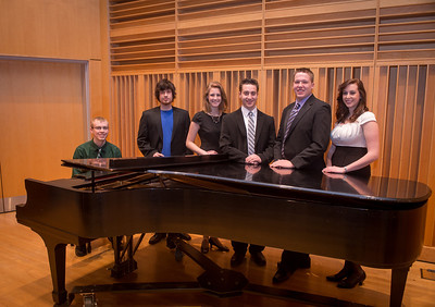 President's Recital Performers posing in the Center for Performing and Fine Arts