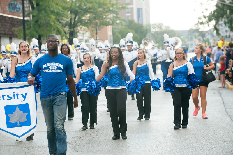 Blue and White Homecoming parade 2013